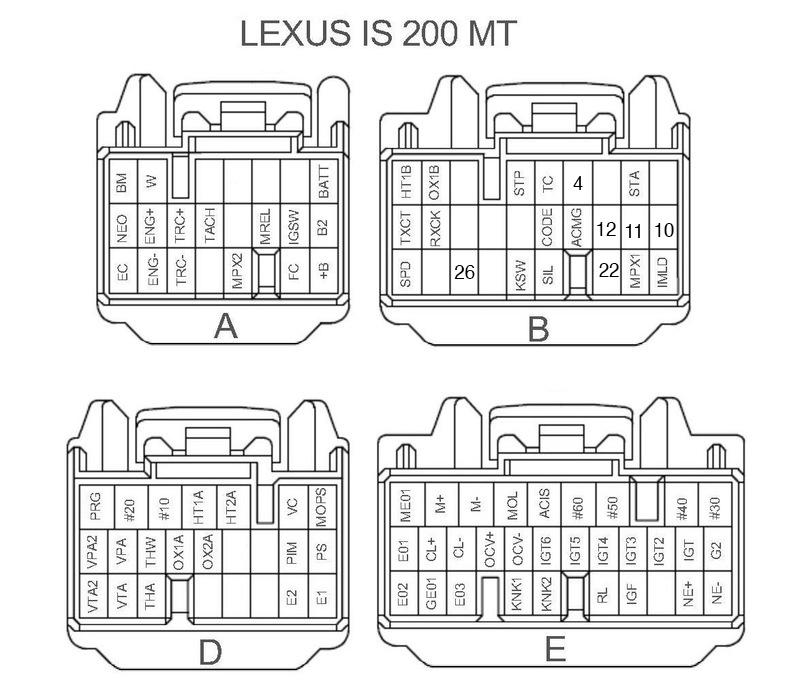 1jz gte wiring diagram schematic is200 ecu wiring connectors a b 1jzgte vvti swap help lexus is forum  is200 ecu wiring connectors a b 1jzgte