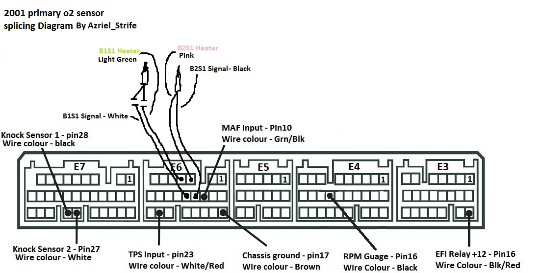 How To Splice 2001 Primary O2 Sensors With Diagram Pinout Lexus Is Forum