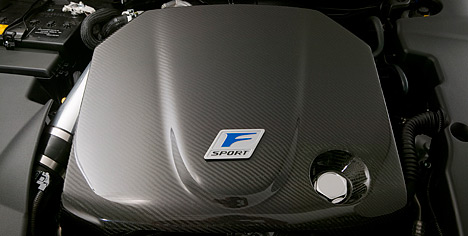 Lexus F-Sport Accessories for the IS C, 2nd-gen IS & 3rd-gen GS (updated Sept 2010)-carbon_fiber_engine_cover_1.jpg