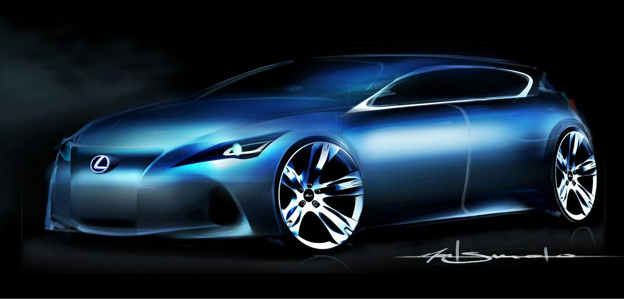 An official rendering of the upcoming Lexus C-Premium concept-lexus-ct-teasersketch.jpg
