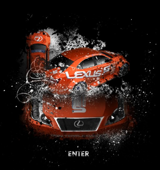 Team Lexus' red-hot new website-splash_page.jpg