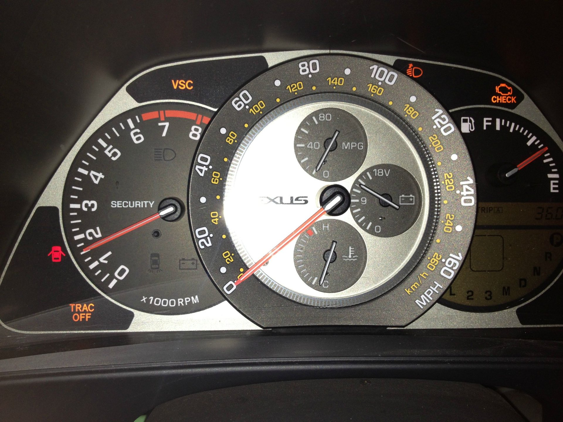 Check Engine Light On And Off >> Check Engine Light Vsc Light And Trac Off Light All On